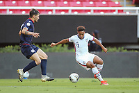 ZAPOPAN, MEXICO - MARCH 21: Jonathan Lewis #7 of the United States plays the ball during a game between Dominican Republic and USMNT U-23 at Estadio Akron on March 21, 2021 in Zapopan, Mexico.