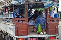 Zanzibar, Tanzania. A Dala-dala, local low-cost public transport for Zanzibar island.