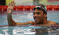 Swimming 55° Settecolli trophy Foro Italico, Rome on June 30, 2018.<br /> Swimmer Gregorio Paltrinieri, of Italy, celebrates after winning the men's 800 meters Freestyle at the Settecolli swimming trophy in Rome, on 30 June, 2018.<br /> UPDATE IMAGES PRESS/Isabella Bonotto