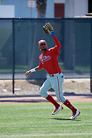 Philadelphia Phillies Jose Pujols (23) during a Minor League Spring Training game against the Pittsburgh Pirates on March 23, 2018 at the Carpenter Complex in Clearwater, Florida.  (Mike Janes/Four Seam Images)