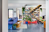 BNPS.co.uk (01202 558833)<br /> Pic: LillicrapChilcott/BNPS<br /> <br /> Pictured: The inside living space.<br /> <br /> Homebuyers can get the best of coast and country with this spectacular house on the market for offers in excess of £1.5m.<br /> <br /> Westfield sits in an incredible position with views over its own land and the sea at Trevaunance Cove in Cornwall.<br /> <br /> The four-bedroom family home is on the edge of the sought-after village of St Agnes, popular with locals, second home owners and holidaymakers.<br /> <br /> The hub of the home is the open-plan kitchen/family room with a folding door that opens up to the sea-facing terrace.