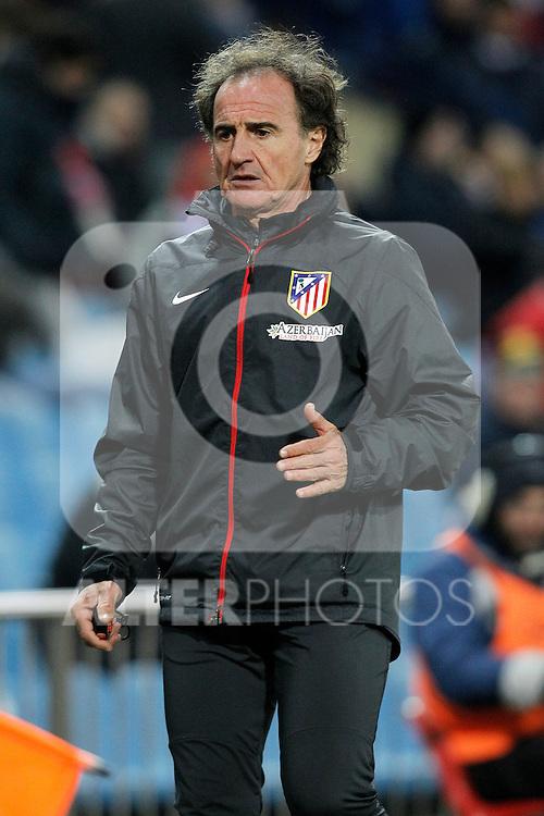 Atletico de Madrid's physical trainer Oscar El Profe Ortega during La Liga match.December 15,2013. (ALTERPHOTOS/Acero)
