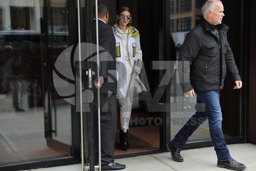 - The Gigi Hadid model is seen in the Soho neighborhood of Manhattan, New York this Friday, 09. (Photo: William Volcov / Brazil Photo Press)