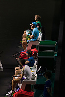 Rotterdam, The Netherlands, 4 march  2021, ABNAMRO World Tennis Tournament, Ahoy, Second round doubles: Kevin Krawietz (GER) / Horia Tecau (ROU) vs. Karen Kachnanov (RUS) / Andrey Rublev (RUS). <br /> Photo: www.tennisimages.com/