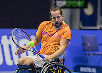 Rotterdam, Netherlands, December 15, 2016, Topsportcentrum, Lotto NK Tennis,  Wheelchair, Koen Meerwijk (NED) <br /> Photo: Tennisimages/Henk Koster