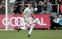 LOS ANGELES, CA - MARCH 01: Nicolas Figal #5 of Inter Miami CF chases after ball during a game between Inter Miami CF and Los Angeles FC at Banc of California Stadium on March 01, 2020 in Los Angeles, California.