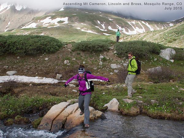 Ascending Mt Cameron, Lincoln and Bross, Mosquito Range, Colorado