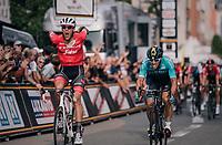 Jasper Stuyven (BEL/Trek-Segafredo) sprints to an emotional hometown win in Leuven (BEL)<br /> <br /> 52nd GP Jef Scherens - Rondom Leuven 2018 (1.HC)<br /> 1 Day Race: Leuven to Leuven (186km/BEL)