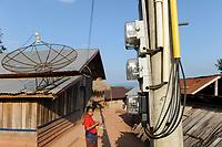 LAO PDR, province Oudomxay , village Houyta, ethnic group Khmu, power metre  / LAOS Provinz Oudomxay Dorf Houyta , Ethnie Khmu , Stromzaehler