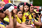 Colombian fans out in force at sign on before the start of Stage 21 of the 2019 Tour de France running 128km from Rambouillet to Paris Champs-Elysees, France. 28th July 2019.<br /> Picture: ASO/Alex Broadway   Cyclefile<br /> All photos usage must carry mandatory copyright credit (© Cyclefile   ASO/Alex Broadway)