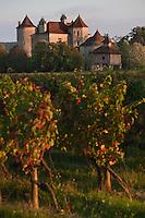 Europe/Europe/France/Midi-Pyrénées/46/Lot/Caillac:  Château  de La Grézette XVI ème  et son pigeonnier dans le vignoble AOC Cahors [Non destiné à un usage publicitaire - Not intended for an advertising use]
