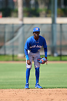 Toronto Blue Jays shortstop Marcos De La Rosa (22) during an Extended Spring Training game against the Philadelphia Phillies on June 12, 2021 at the Carpenter Complex in Clearwater, Florida. (Mike Janes/Four Seam Images)