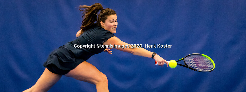 Amstelveen, Netherlands, 14  December, 2020, National Tennis Center, NTC, NK Indoor, National  Indoor Tennis Championships, Qualifying:   Bo Luttikhuis (NED) <br /> Photo: Henk Koster/tennisimages.com