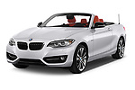 2015 BMW 2 Series  Sport 2 Door Convertible angular front stock photos of front three quarter view