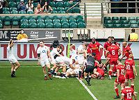 Jamie Blamire (Newcastle Falcons) of England goes over to score the 1st try during the Autumn International match between England and Canada at Twickenham Stadium, London, England on 10 July 2021. Photo by Liam McAvoy.