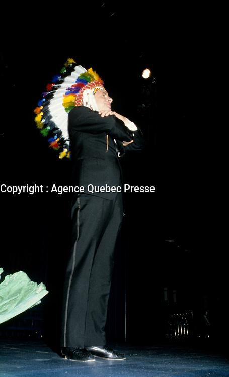 Guy Fournier<br />  at Television Quatre Saison Launch, August 28, 1986.<br /> <br /> PHOTO : Stephane Fournier - Agence Quebec Presse
