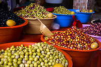 Rissani, Morocco.  Olives for Sale in the Market.