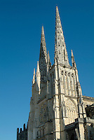 Tower of the Bordeaux Cathedral, Bordeaux, France.
