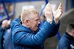 St Johnstone v Livingston…..07.03.20   McDiarmid Park  SPFL<br />Livvy boss Gary Holt applauds the travelling fans<br />Picture by Graeme Hart.<br />Copyright Perthshire Picture Agency<br />Tel: 01738 623350  Mobile: 07990 594431