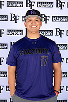 Eric Oseguera (17) of Village Christian High School in Mission Hills, California during the Baseball Factory All-America Pre-Season Tournament, powered by Under Armour, on January 12, 2018 at Sloan Park Complex in Mesa, Arizona.  (Mike Janes/Four Seam Images)