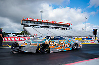 Jul 10, 2020; Clermont, Indiana, USA; NHRA pro stock Kyle Koretsky during testing for the Lucas Oil Nationals at Lucas Oil Raceway. This will be the first race back for NHRA since the COVID-19 pandemic. Mandatory Credit: Mark J. Rebilas-USA TODAY Sports