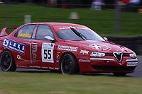 Round 9 of the 2002 British Touring Car Championship. #55 Graham Saunders (GBR). Gary Ayles Motorsport. Alfa Romeo 156.