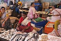 Asie/Inde/Maharashtra/Bombay: Sassoon Docks - Marché aux poissons