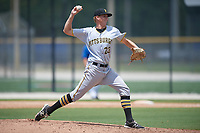 GCL Pirates relief pitcher Vince Deyzel (23) delivers a pitch during a game against the GCL Blue Jays on July 20, 2017 at Bobby Mattick Training Center at Englebert Complex in Dunedin, Florida.  GCL Pirates defeated the GCL Blue Jays 11-6 in eleven innings.  (Mike Janes/Four Seam Images)