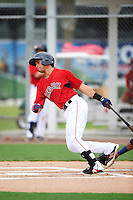 GCL Red Sox third baseman Stanley Espinal (15) at bat during the second game of a doubleheader against the GCL Rays on August 9, 2016 at JetBlue Park in Fort Myers, Florida.  GCL Rays defeated GCL Red Sox 9-1.  (Mike Janes/Four Seam Images)