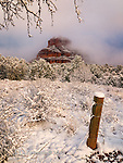 Winter Sunrise at Bell Rock ©2017 James D Peterson.  The morning after a Sedona snowstorm can be pretty charming.