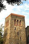 First Methodist Church belltower. West 4th Street.