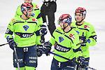 Daniel Pietta (Nr.86 - ERC Ingolstadt), Ryan Kuffner (Nr.12 - ERC Ingolstadt) und Wayne Simpson (Nr.21 - ERC Ingolstadt) beim Spiel in der Gruppe Sued der DEL, Adler Mannheim (dunkel) - ERC Ingolstadt (hell).<br /> <br /> Foto © PIX-Sportfotos *** Foto ist honorarpflichtig! *** Auf Anfrage in hoeherer Qualitaet/Aufloesung. Belegexemplar erbeten. Veroeffentlichung ausschliesslich fuer journalistisch-publizistische Zwecke. For editorial use only.