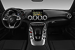 Stock photo of straight dashboard view of 2016 Mercedes Benz AMG-GT AMG-GT-S 3 Door Coupe Dashboard