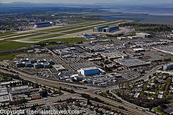aerial photograph Sunnyvale, Moffett Field, Mountain View, California