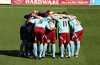 Pictured: Burnley Players huddle before kick off<br /> Coca Cola Championship, Swansea City FC v Burnley at the Liberty Stadium, Swansea. Saturday 20 September 2008.