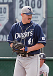 March 29, 2012: BYU Cougars pitcher Chris Capper throws against the Nevada Wolf Pack during their NCAA baseball game played at Peccole Park on Thursday afternoon in Reno, Nevada.