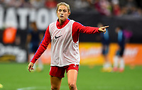 New Orleans, LA - Thursday October 19, 2017: Abby Dahlkemper during an International friendly match between the Women's National teams of the United States (USA) and South Korea (KOR) at Mercedes Benz Superdome.