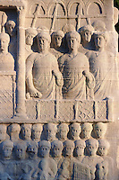 The base of the Egyptian Obelisk of Thutmosis III, a centre piece of the Roman Hippadrome, showing Roman spectators in the Hippadrome. Istanbul Turkey