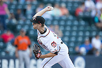 Richmond Flying Squirrels starting pitcher Chris Stratton (18) delivers a pitch to the plate against the Bowie Baysox at The Diamond on May 23, 2015 in Richmond, Virginia.  The Baysox defeated the Flying Squirrels 3-2.  (Brian Westerholt/Four Seam Images)