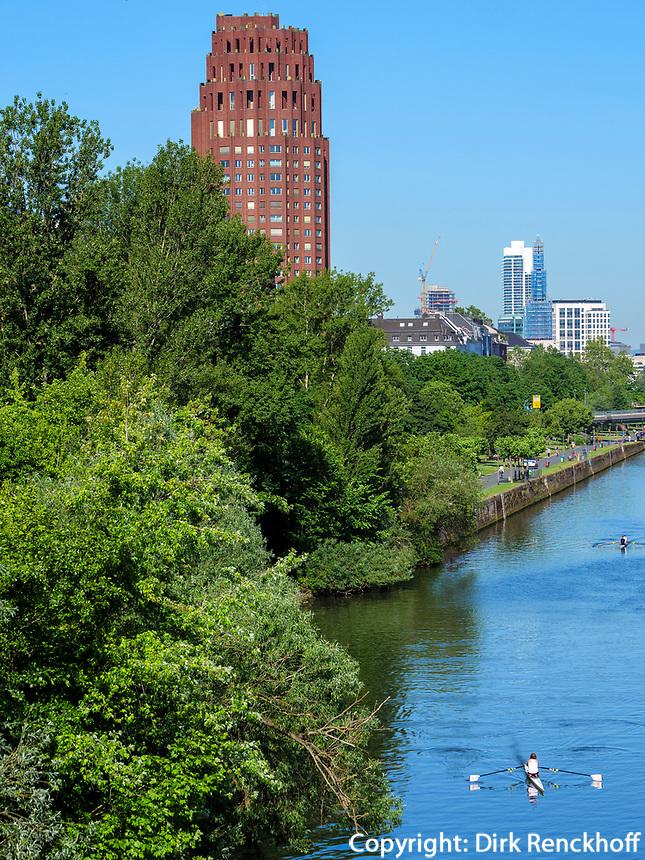 linkes Mainufer, Frankfurt, Hessen, Deutschland, Europa<br /> left bank of  river Main, Frankfurt, Hesse, Germany, Europe