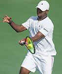 July  19, 2016:  Donald Young (USA) defeated Ernesto Escobedo (USA) 6-3, 3-6, at the Citi Open being played at Rock Creek Park Tennis Center in Washington, DC.  ©Leslie Billman/Tennisclix/CSM