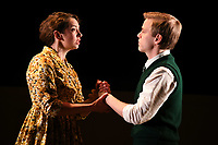 """Lizzie Muncey and Giles Cooper<br /> performs on stage in """"Toast"""" at The Other Palace theatre, London<br /> <br /> ©Ash Knotek  D3490  04/04/2019"""