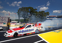 Jun. 2, 2013; Englishtown, NJ, USA: NHRA funny car driver Bob Tasca III during the Summer Nationals at Raceway Park. Mandatory Credit: Mark J. Rebilas-