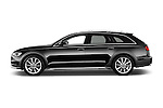Car Driver side profile view of a 2015 Audi A6 Allroad Quattro - 5 Door Wagon Side View