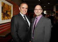 Montreal (Qc) CANADA Sept  30 2010 - Centaur Theater fundraiser Gala : Calin Rovinescu. CEO, Air Canada (L), Roy Surette (R)