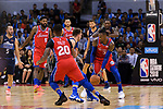 Robert Covington of 76ers (R) in action during the NBA China Games 2018 match between Dallas Mavericks and Philadelphia 76ers at Universiade Center on October 08 2018 in Shenzhen, China. Photo by Marcio Rodrigo Machado / Power Sport Images