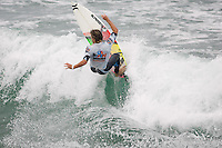 American Brett Simpson during the final day of the 2010 US Open of Surfing in Huntington Beach, California on August 8, 2010.