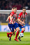 Saul Niguez Esclapez of Atletico de Madrid runs with the ball during the UEFA Champions League 2017-18 match between Atletico de Madrid and AS Roma at Wanda Metropolitano on 22 November 2017 in Madrid, Spain. Photo by Diego Gonzalez / Power Sport Images