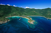 Aerial view of Great and Little Lameshur<br /> Virgin Islands National Park<br /> St. John<br /> U.S. Virgin Islands