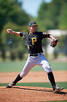 Pittsburgh Pirates pitcher Ryan Valdes (14) during a Minor League Spring Training game against the Philadelphia Phillies on March 23, 2018 at the Carpenter Complex in Clearwater, Florida.  (Mike Janes/Four Seam Images)